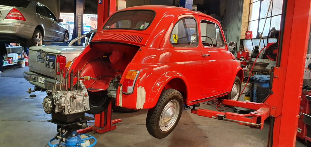 Fiat 500F Engine Removal