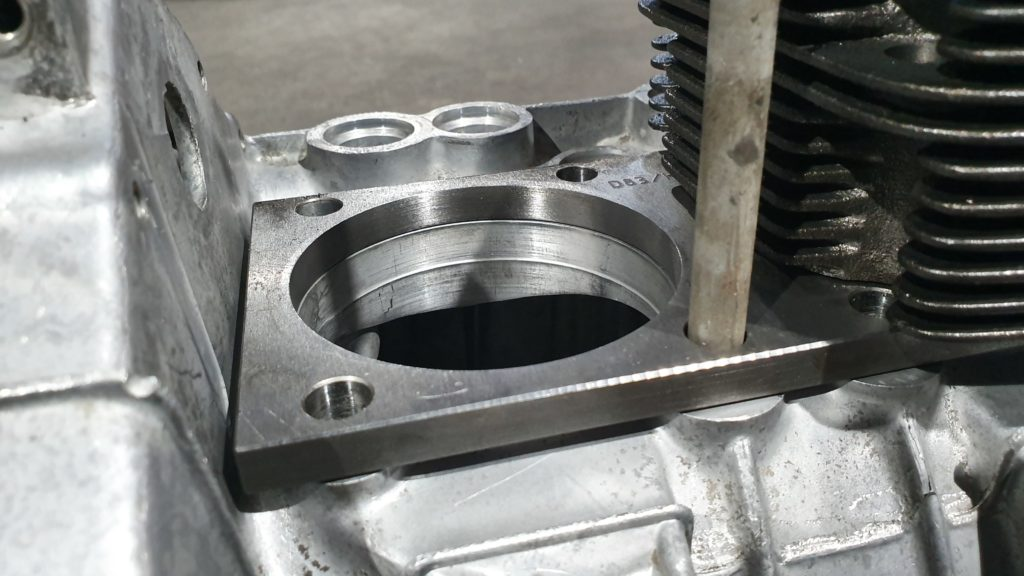 Fiat 500F 110F rebuild enginebspacer plate